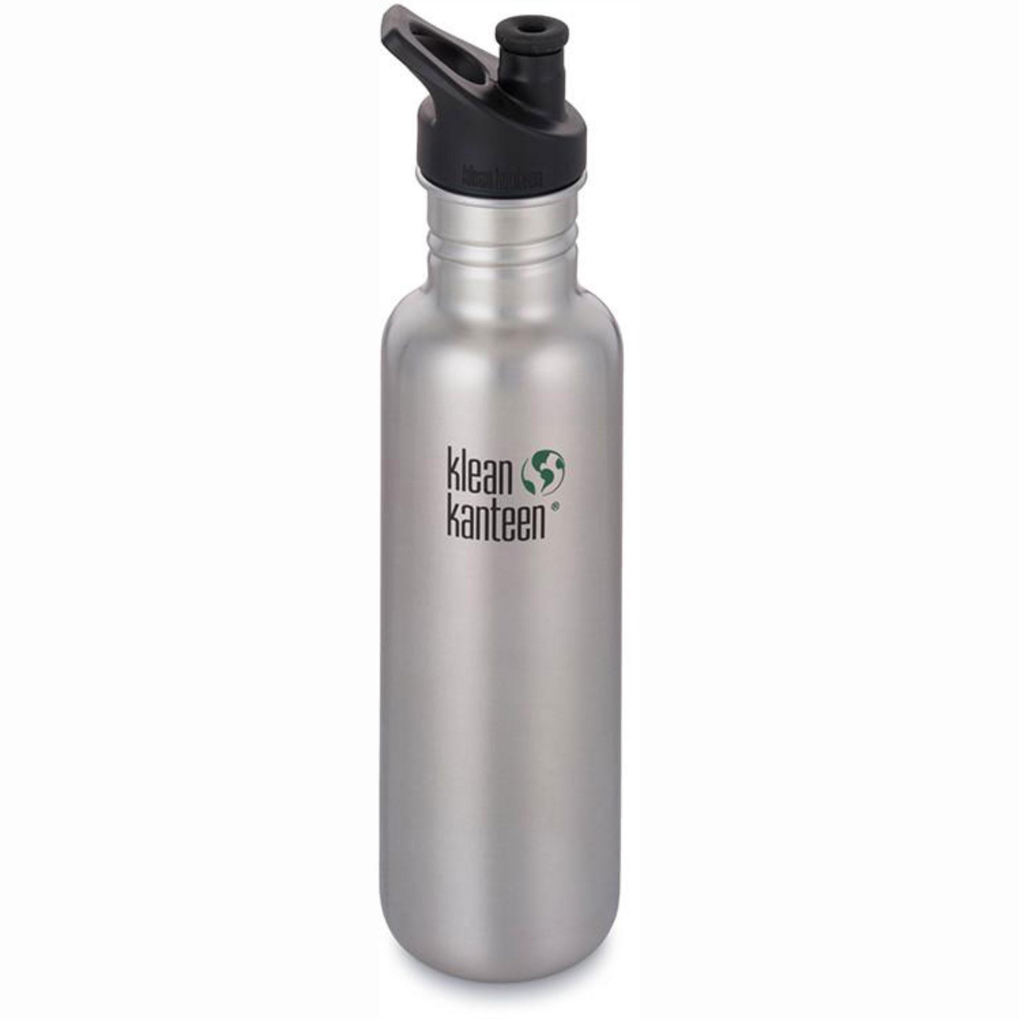 Klean Kanteen Classic Single Wall Loop Bottle 800ml - Brushed Stainless