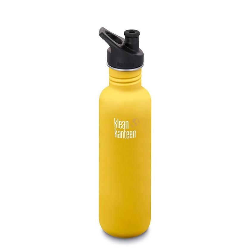 Klean Kanteen Classic Single Wall Loop Bottle 800ml - Lemon Curry