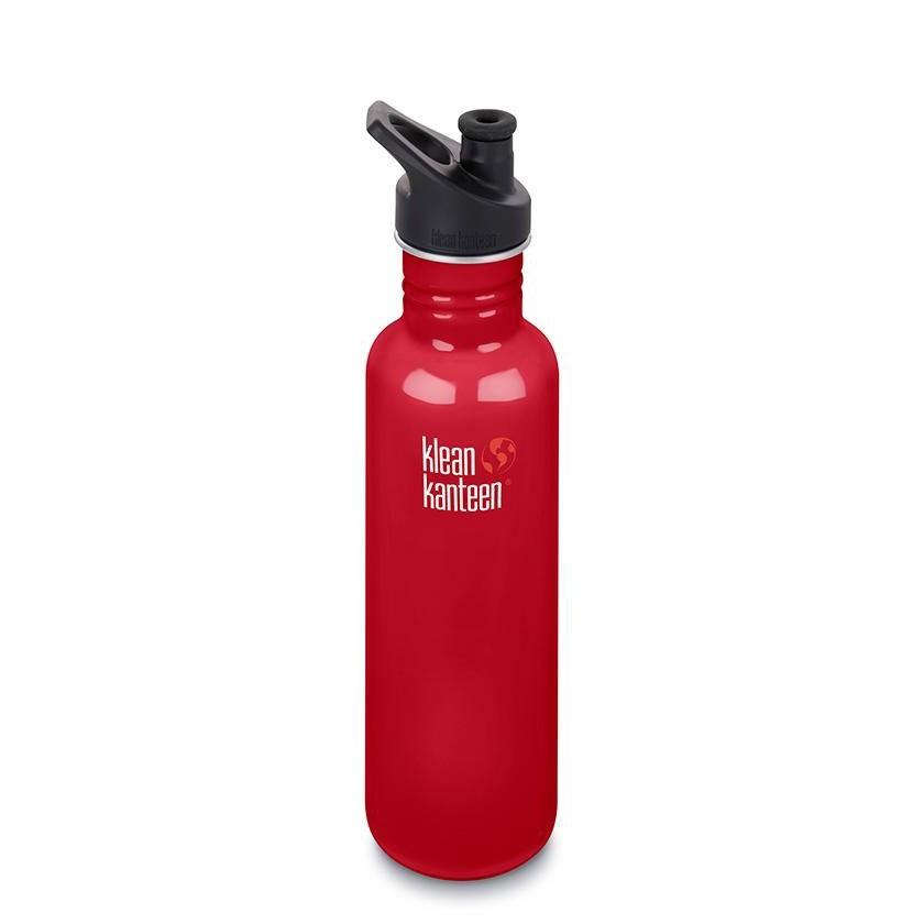 Klean Kanteen Classic Single Wall Loop Bottle 800ml - Mineral Red