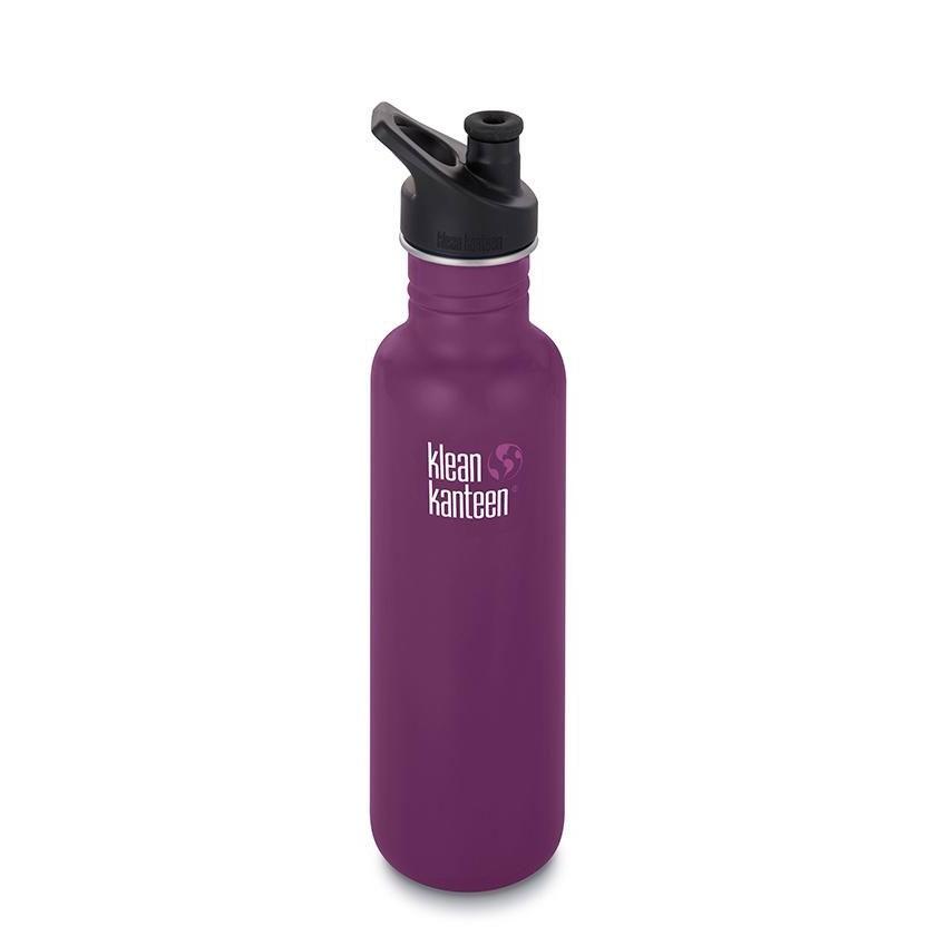 Klean Kanteen Classic Single Wall Loop Bottle 800ml - Winter Plum