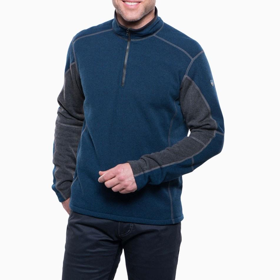 Kuhl Revel 1/4 Zip Fleece - Mens - Navy/Steel