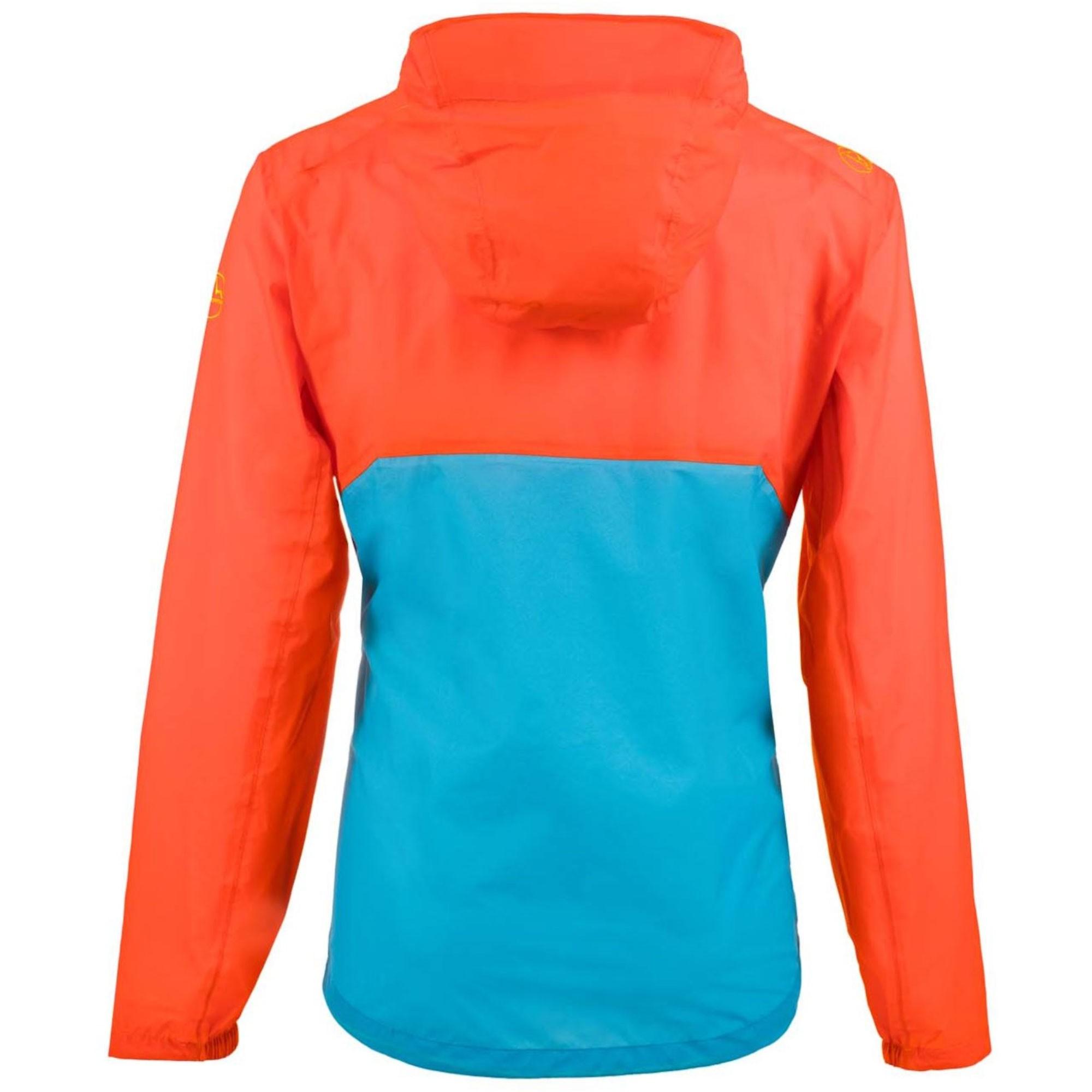 LA SPORTIVA Hail Waterproof Jacket - Pumpkin/Tropic Blue - back