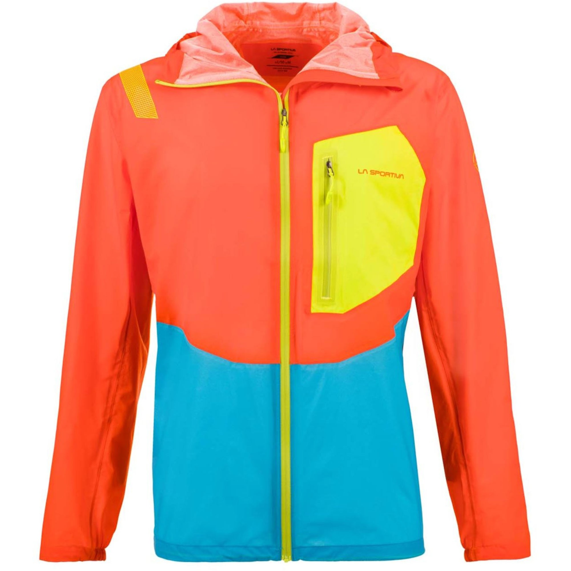 LA SPORTIVA Hail Waterproof Jacket - Pumpkin/Tropic Blue