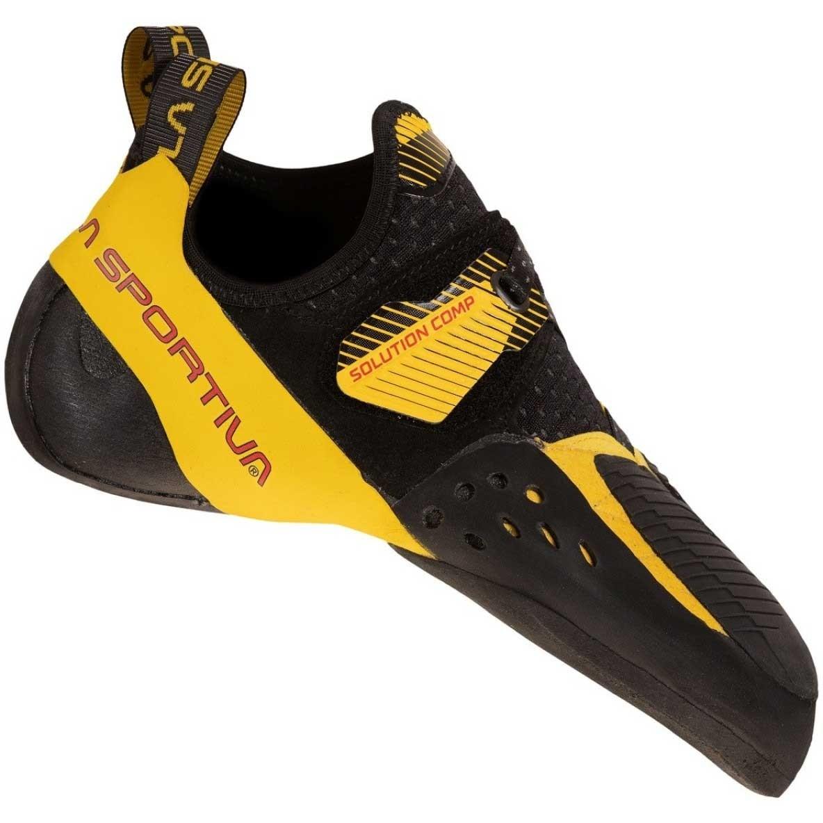 La Sportiva Solution Comp Climbing Shoe - Men's - Black/Yellow