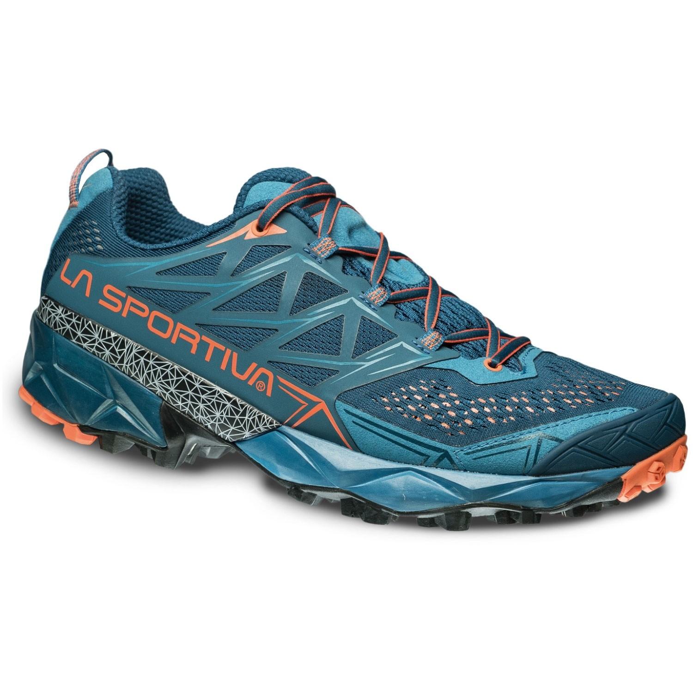 La Sportiva Akyra Trail Running Shoe Ocean / Flame