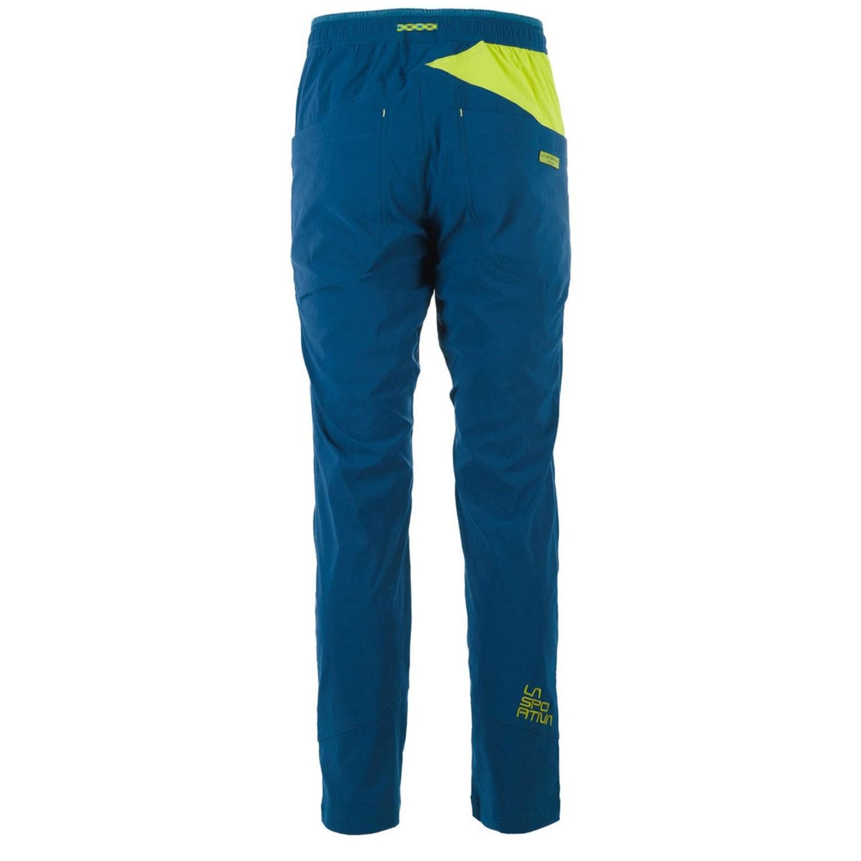 La Sportiva Talus Climbing Pants - Ocean/Citronelle - back