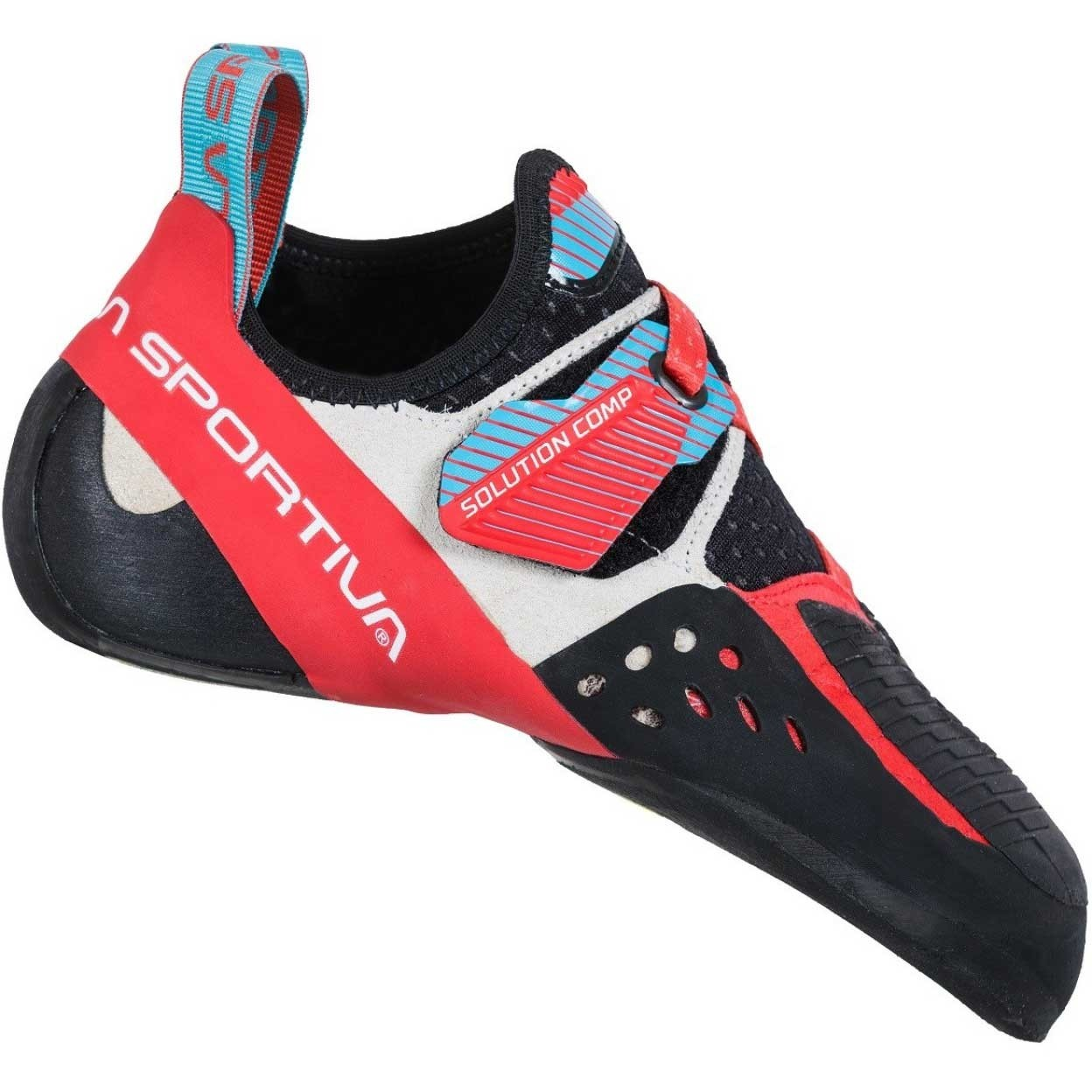 La Sportiva Solution Comp Climbing Shoe - Women's - Hibiscus/Malibu Blue