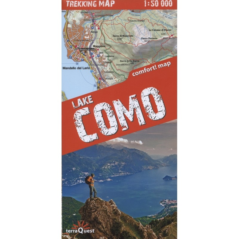 Lake Como Trekking Map by terraQuest