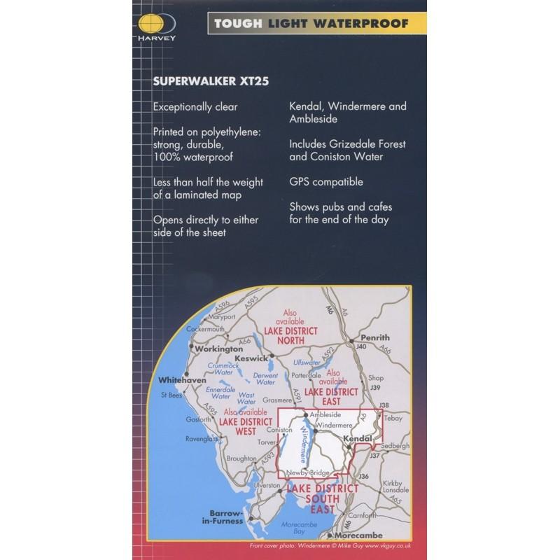 Lake District South East: Harvey XT25