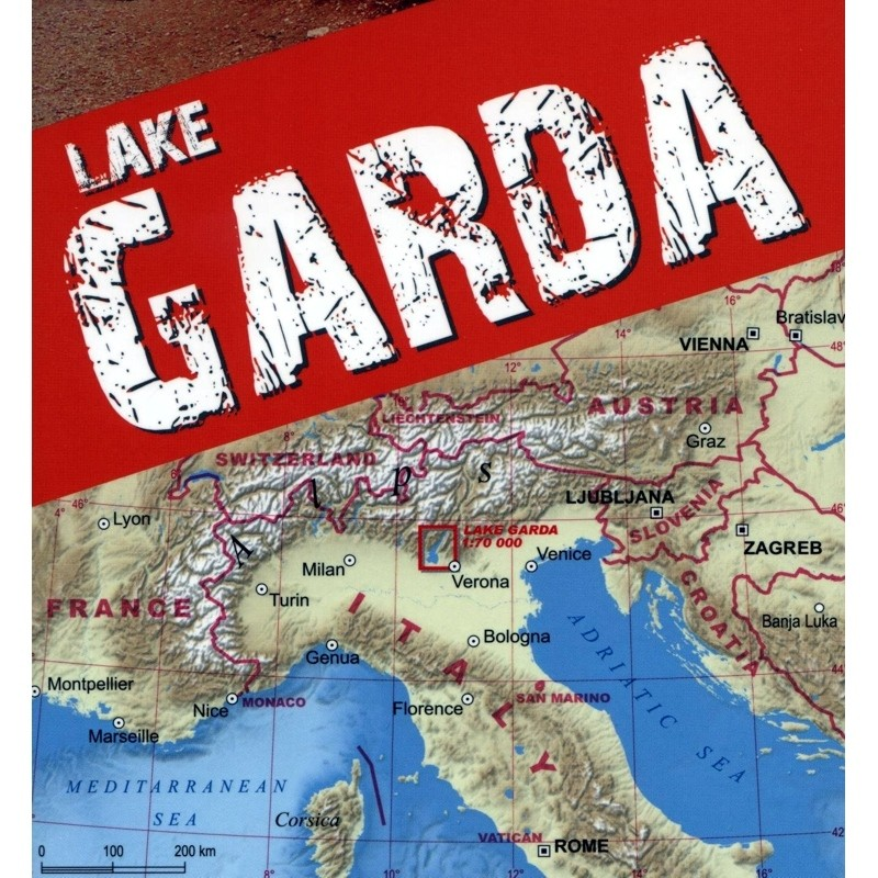 Lake Garda Trekking Map by terraQuest