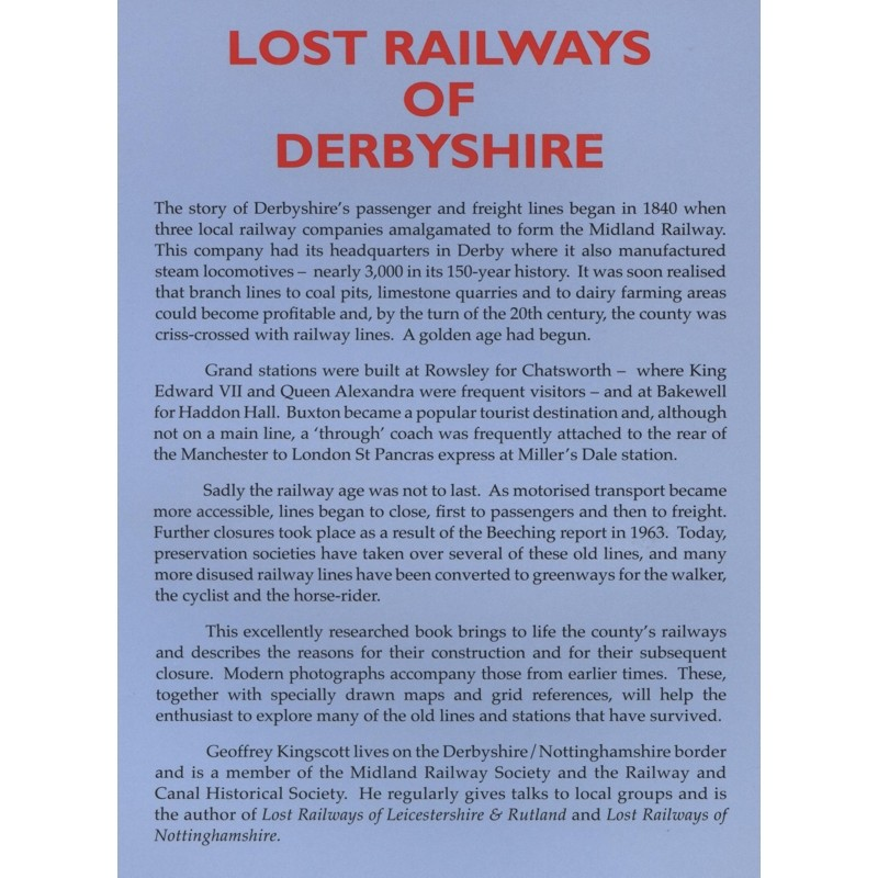 Lost Railways of Derbyshire by Countryside Books
