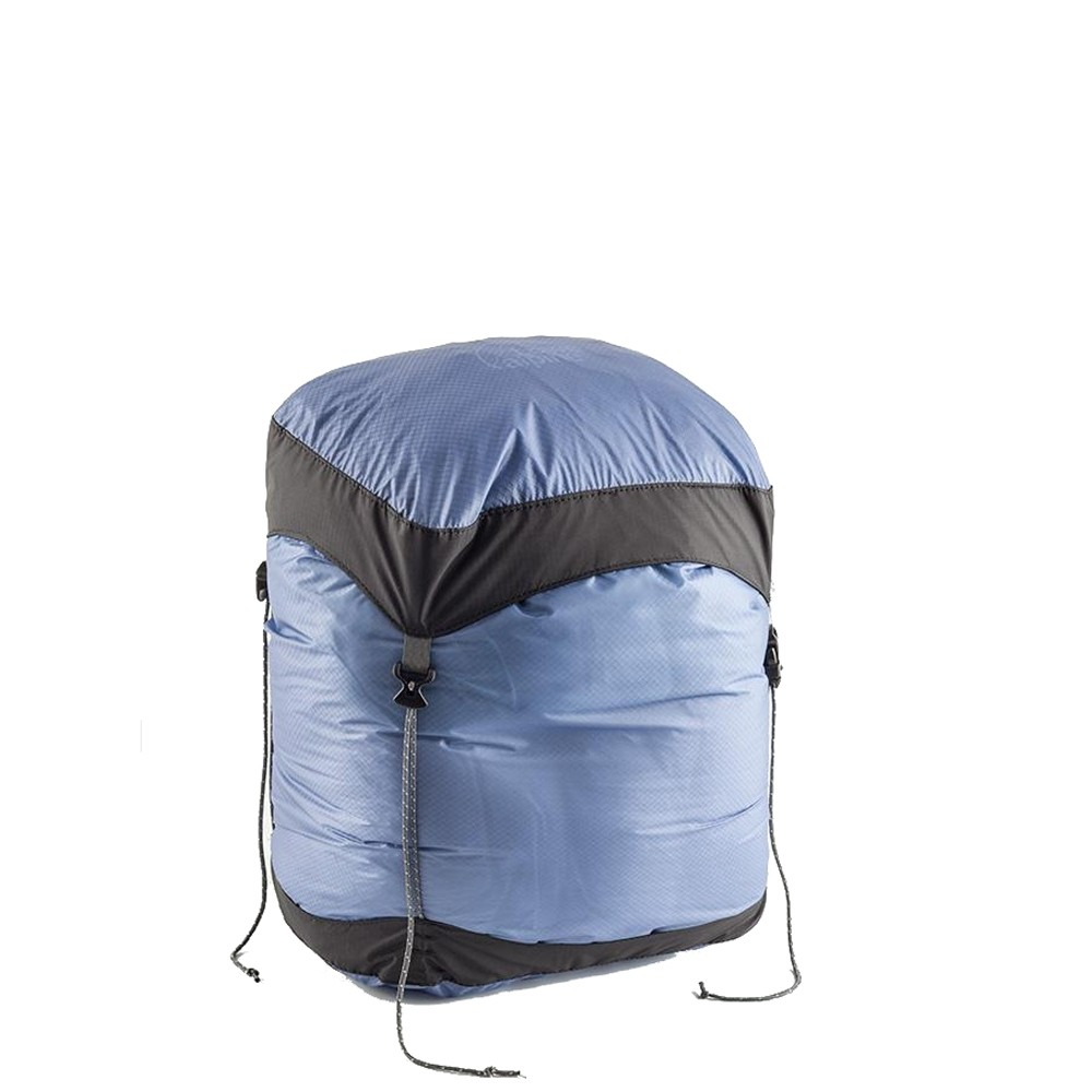 LOWE ALPINE - Ultralite Spider Compression Stuff Sack - Blue M - compressed
