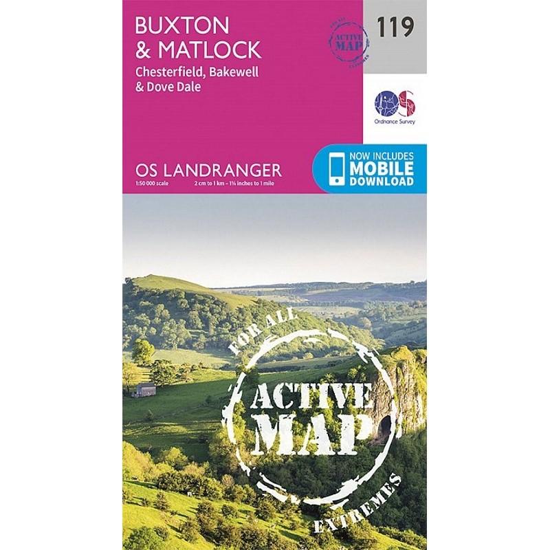 LR119 Buxton & Matlock: ACTIVE by Ordnance Survey