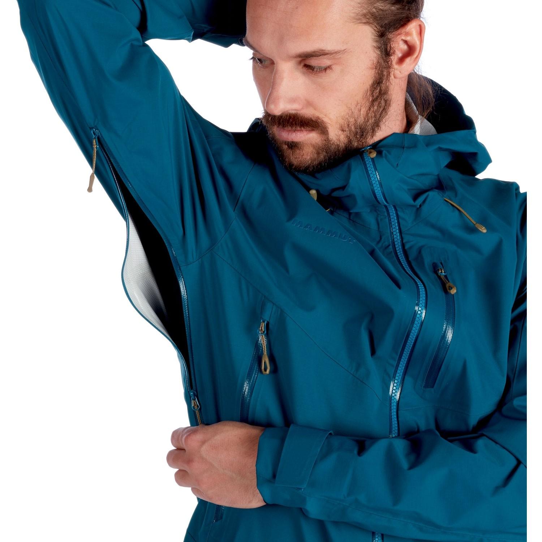 Mammut Kento HS Hooded Waterproof Jacket - Poseidon