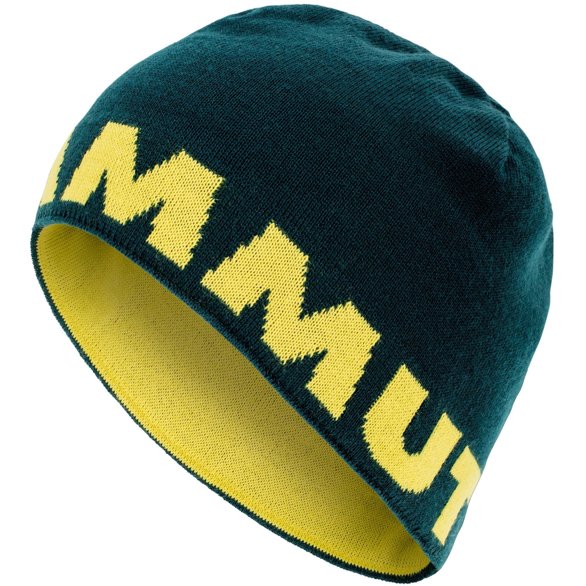 Mammut Logo Beanie - Dark Teal/Canary