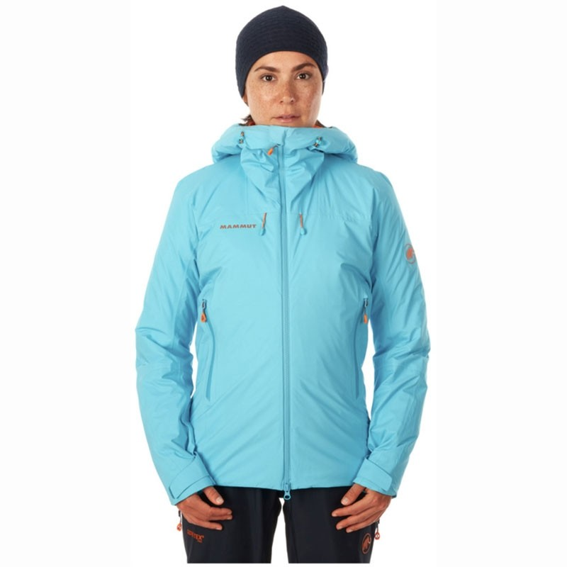 Eiger Extreme Nordwand HS Thermo Womens Hooded Jacket on model