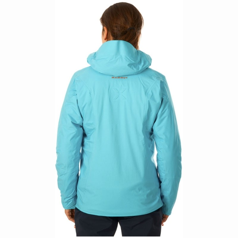 Eiger Extreme Nordwand HS Thermo Womens Hooded Jacket on model back