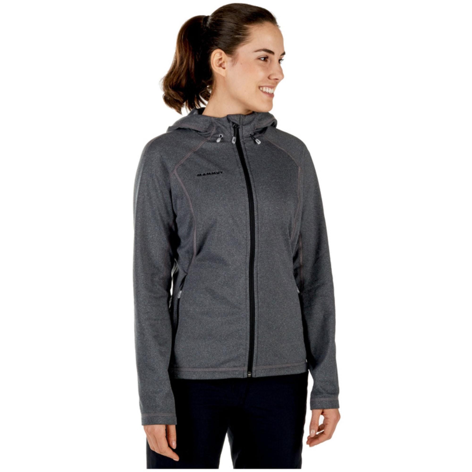 Mammut Runbold ML Women's Hooded Fleece Jacket - Black Melange
