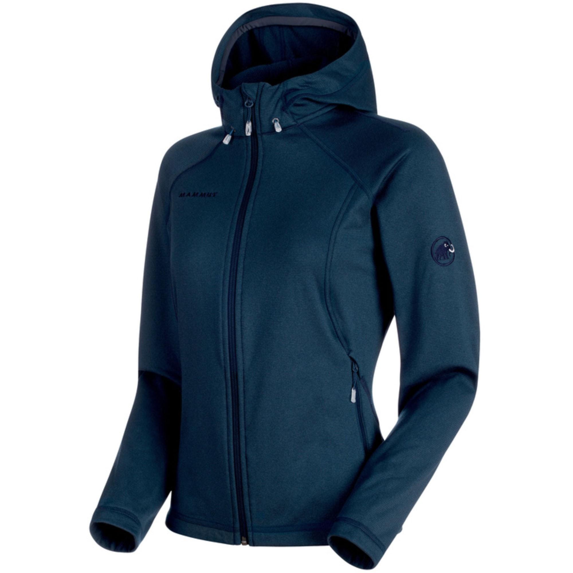 Mammut Runbold ML Women's Hooded Fleece Jacket - Marine Dark Melange