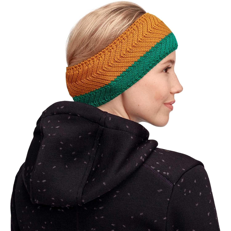 Mammut La Liste Headband - Emerald/Turmeric