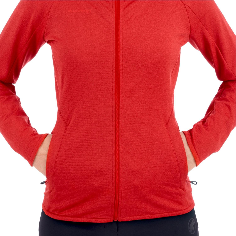 Mammut Nair ML Hooded Fleece Jacket - Women's - Ruby Melan