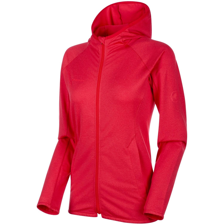 Mammut Nair ML Hooded Fleece Jacket - Women's - Ruby Melange