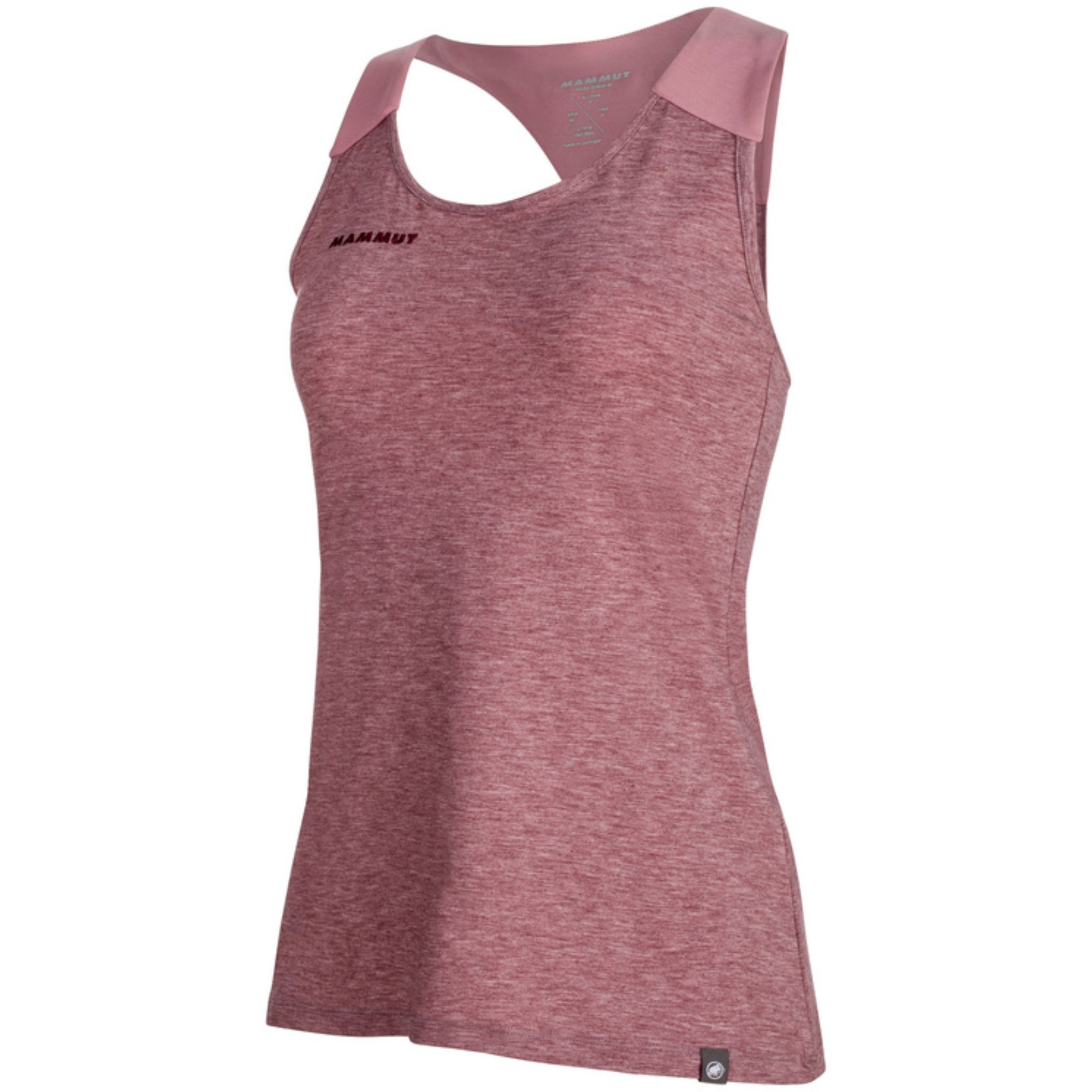 Mammut Wall Vest Top - Merlot Melange/Rose