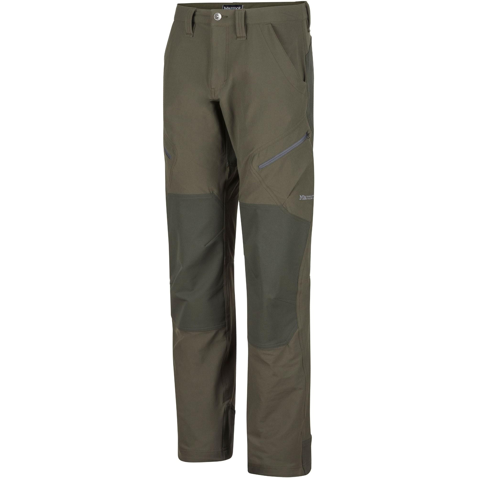 Marmot Highland Men's Softshell Pants - Forest Night/Rosin Green