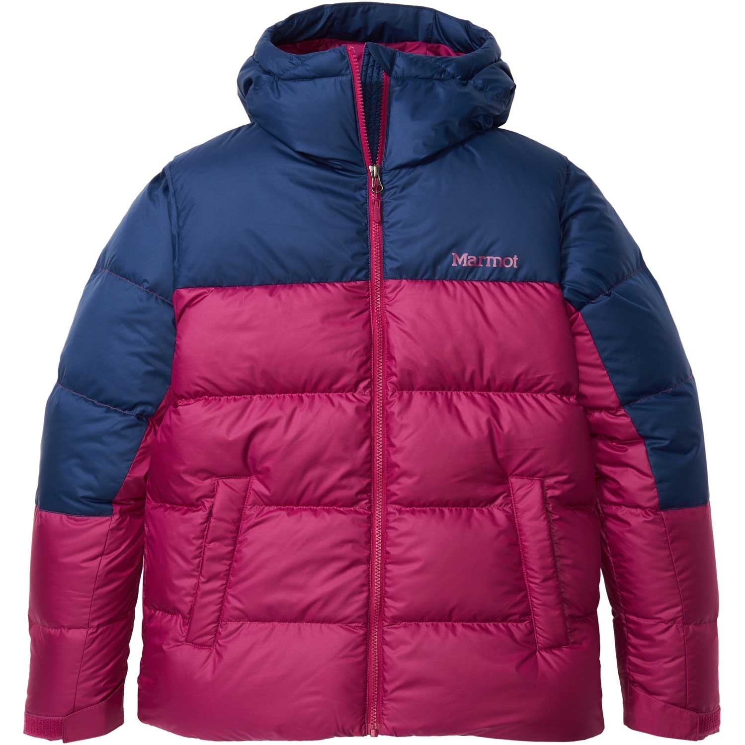 Marmot Guide Down Hoody - Women's - Wild Rose/Arctic Navy