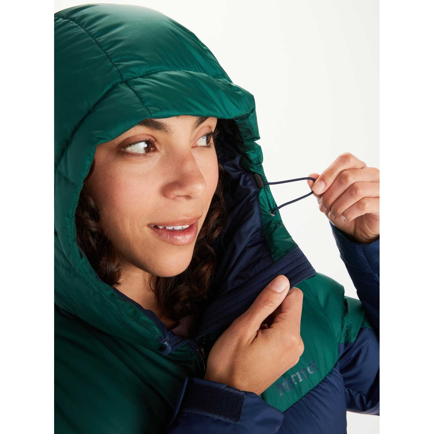 Marmot Guide Down Hoody - Women's - Arctic Navy/Botanical Garden