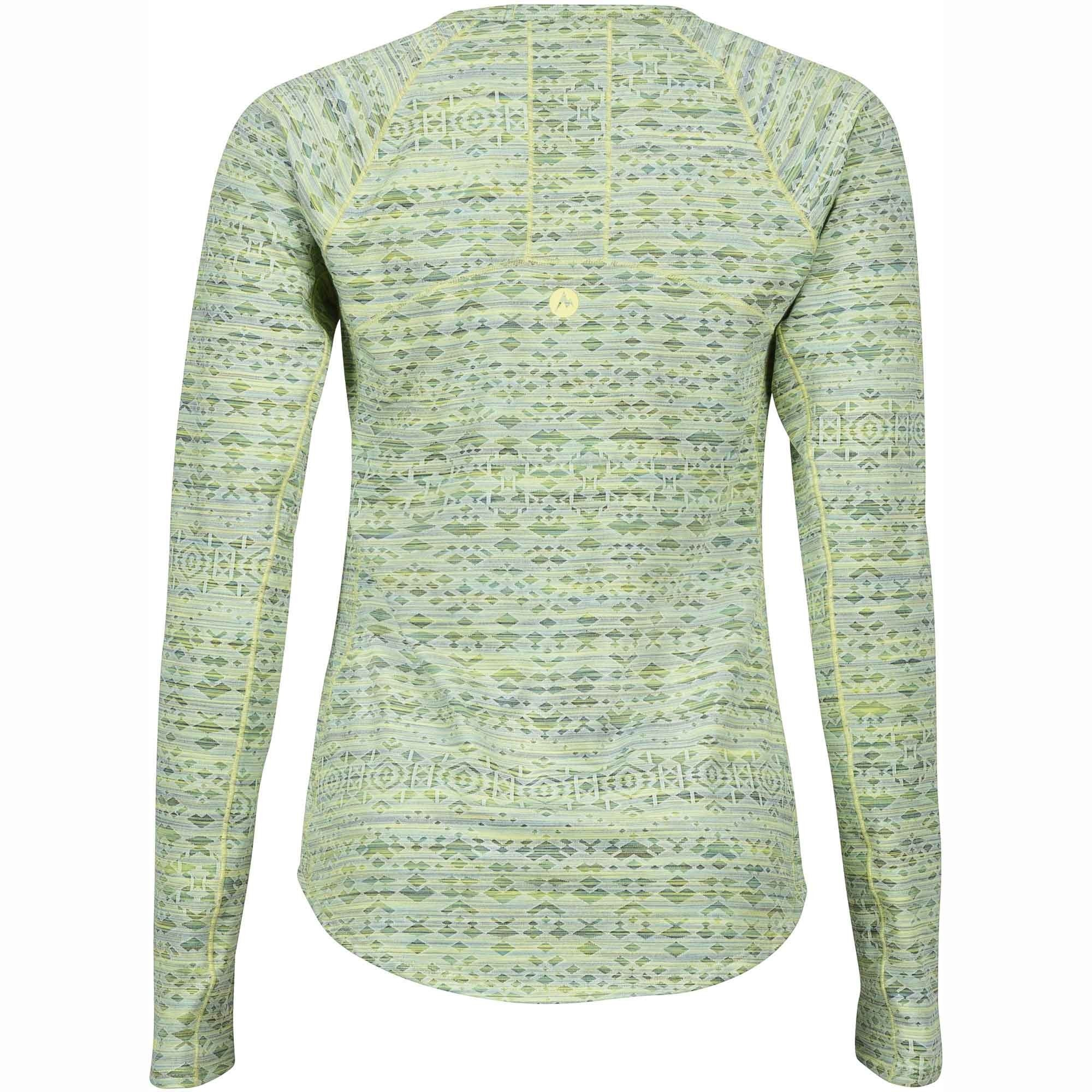 Marmot Sylvie Long Sleeved Top - Honeydew - Back