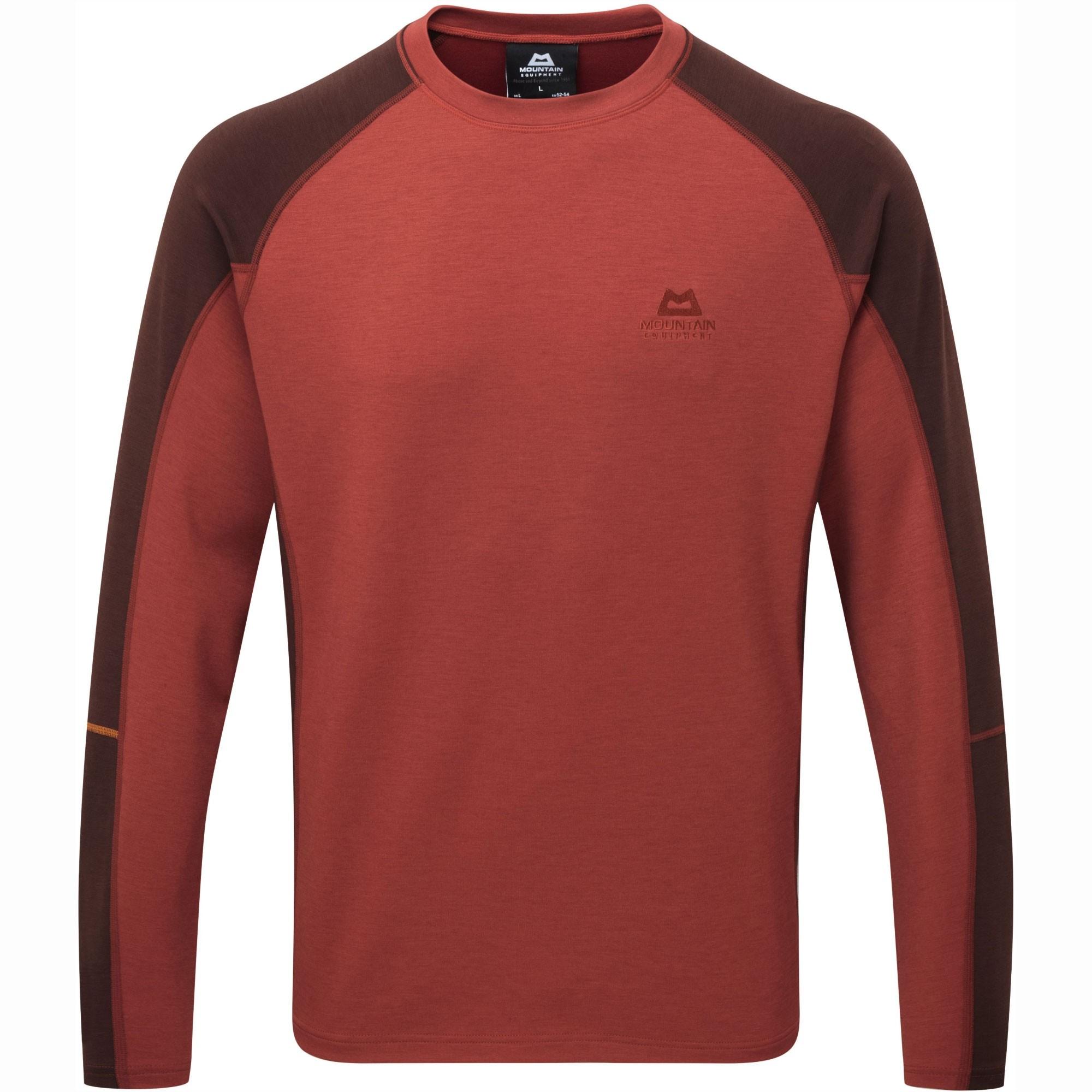 Mountain Equipment Committed Crew Sweater - Henna/Dark Chocolate