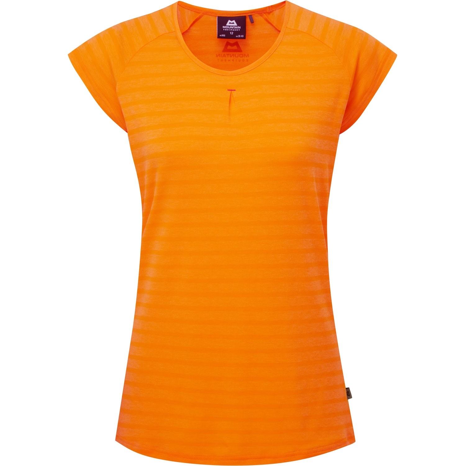 Mountain Equipment Women's Equinox Tee - Orange Sherbet Stripe