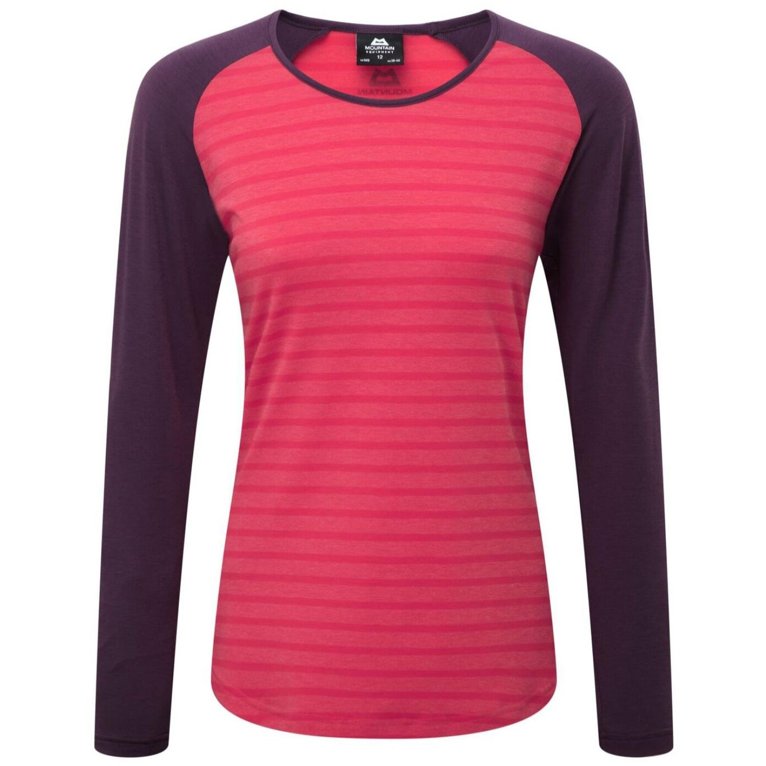 Mountain Equipment Women's Redline LS Tee - Virtual Pink/Blackberry
