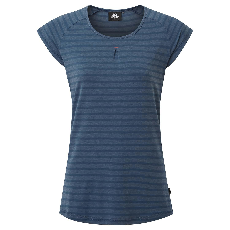 Mountain Equipment Women's Equinox Tee  - Denim Blue Stripe