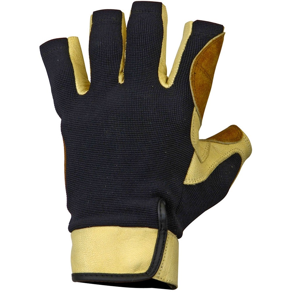 Metolius-Grip Glove 3/4 Finger Gloves - Natural/Black - Back