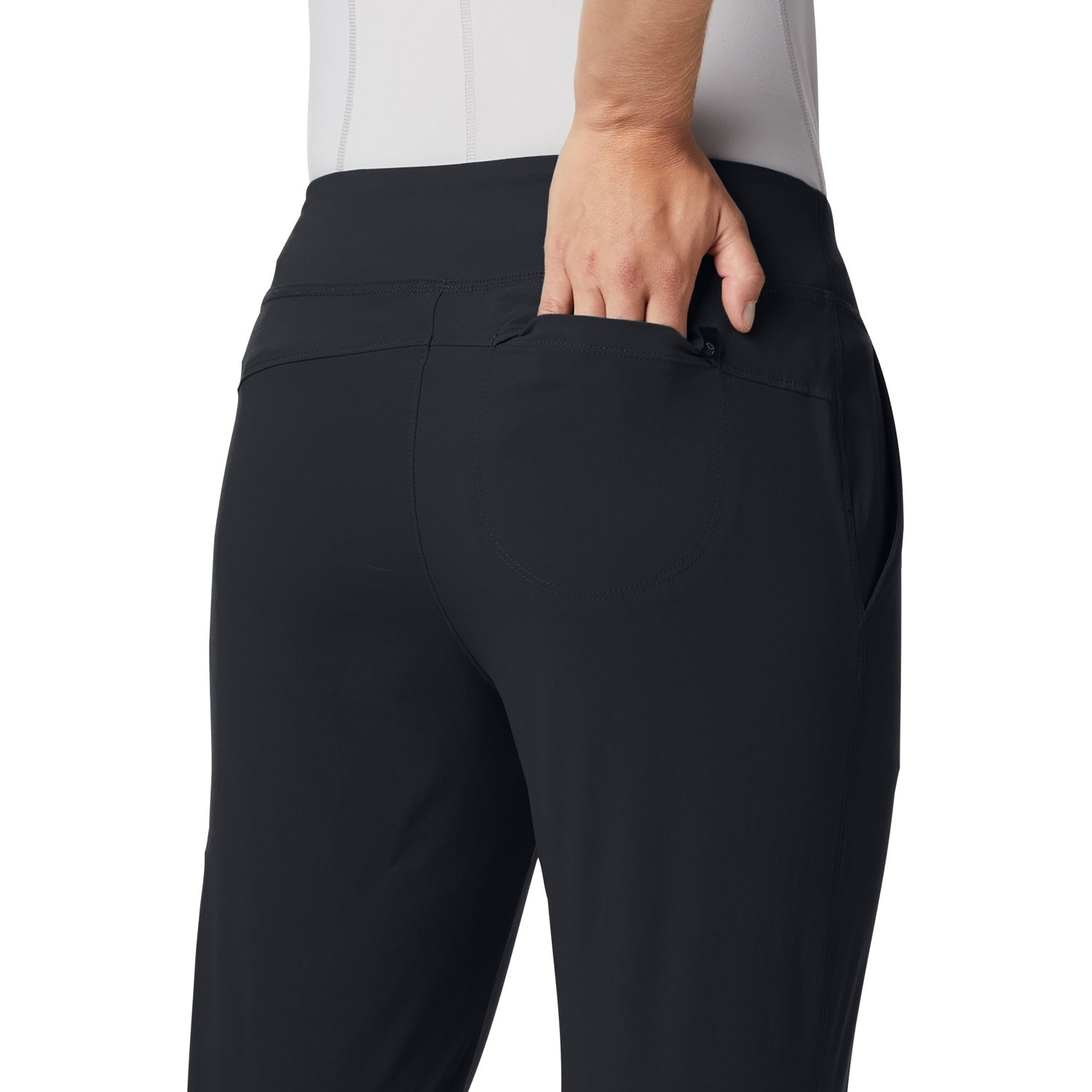 Mountain Hardwear Dynama Ankle Pants - Black - model back pocket