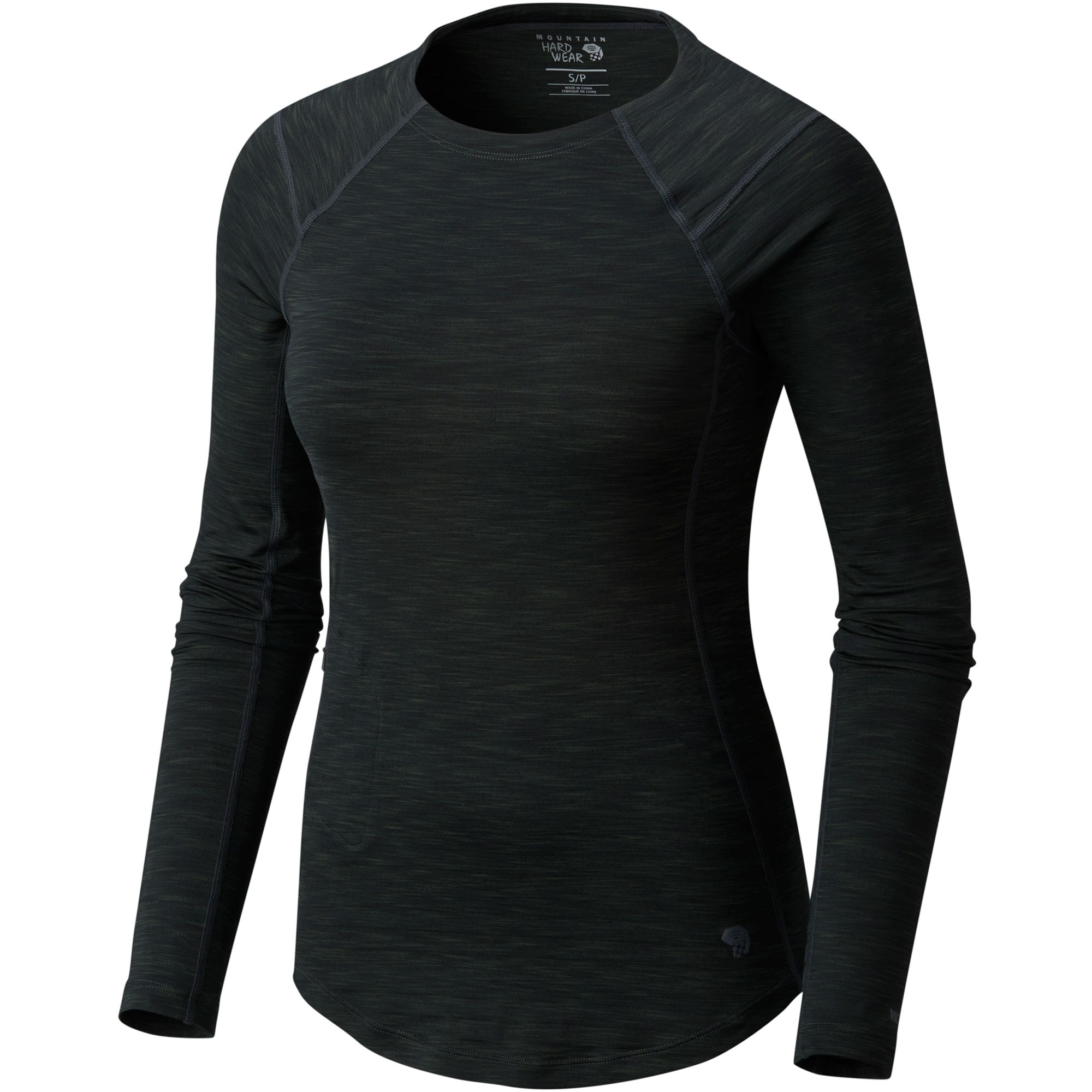 Mountain Hardwear Mighty Stripe Long Sleeve Tee - Stealth Grey