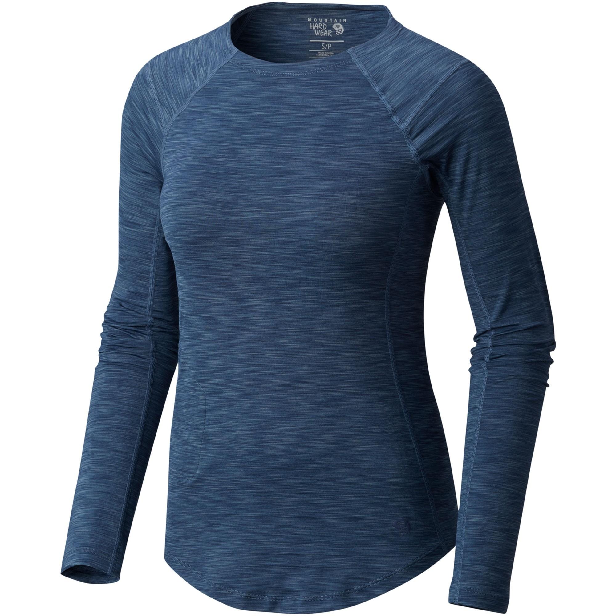 Mountain Hardwear Mighty Stripe Long Sleeve Tee - Zinc