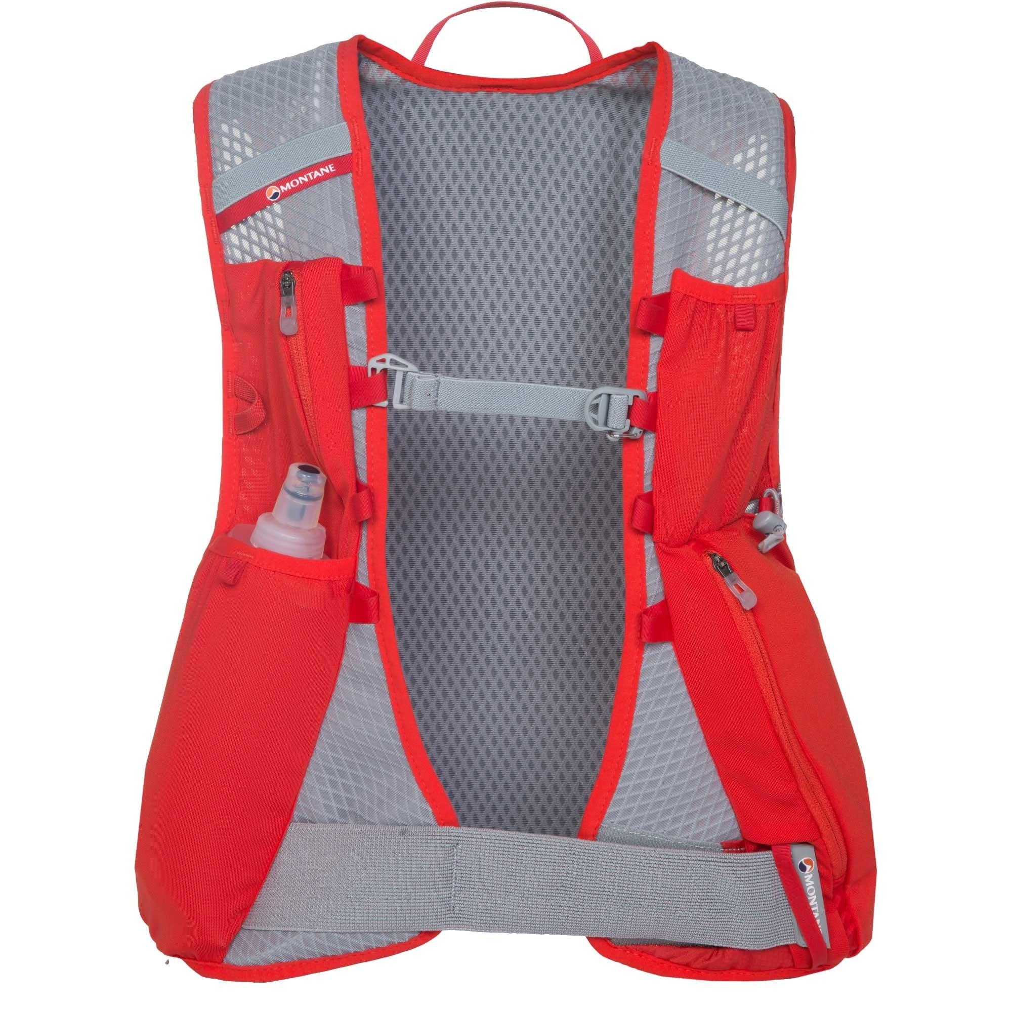 Montane VIA Jaws 10 Trail Running Speedpack - Front - Flag Red
