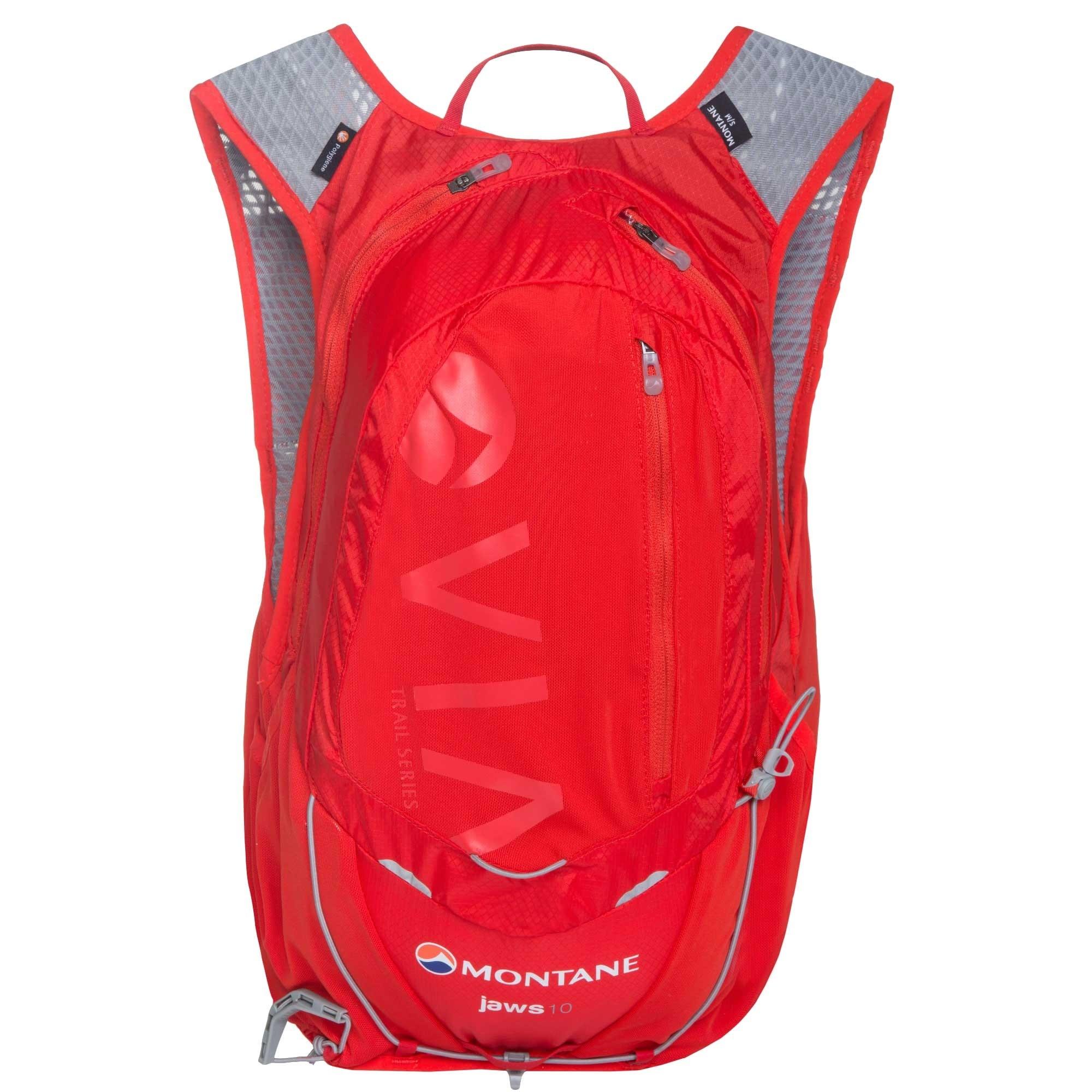 Montane VIA Jaws 10 Trail Running Speedpack - Back - Flag Red