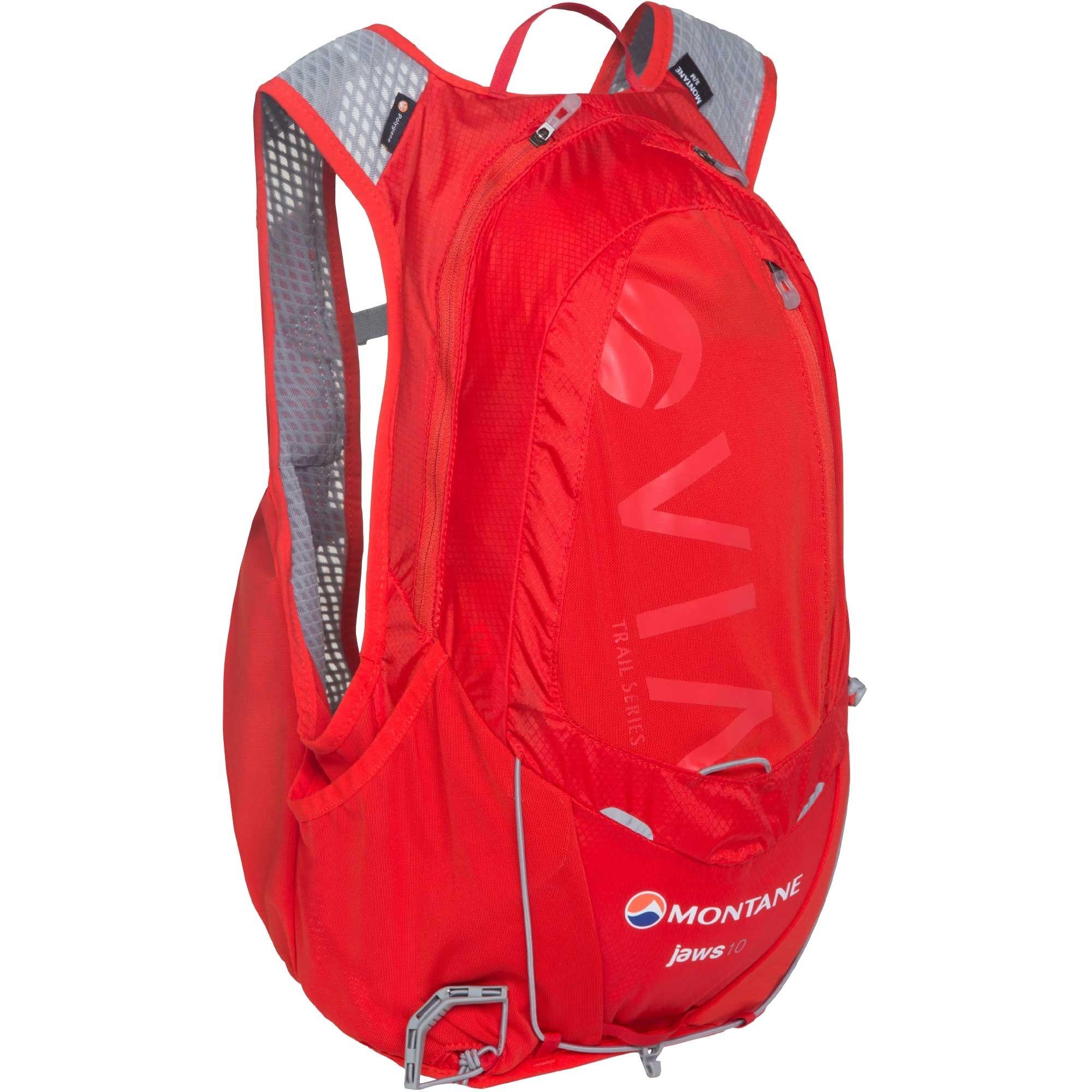 Montane VIA Jaws 10 Trail Running Speedpack - Side - Flag Red