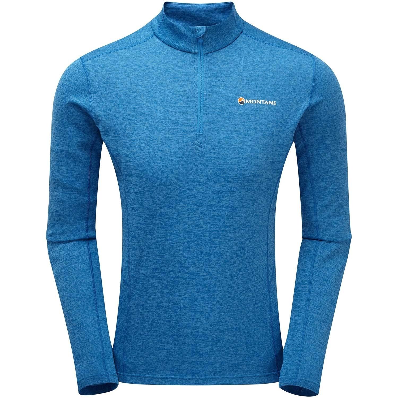 Montane Dart Men's Zip-Neck T-shirt - Electric Blue