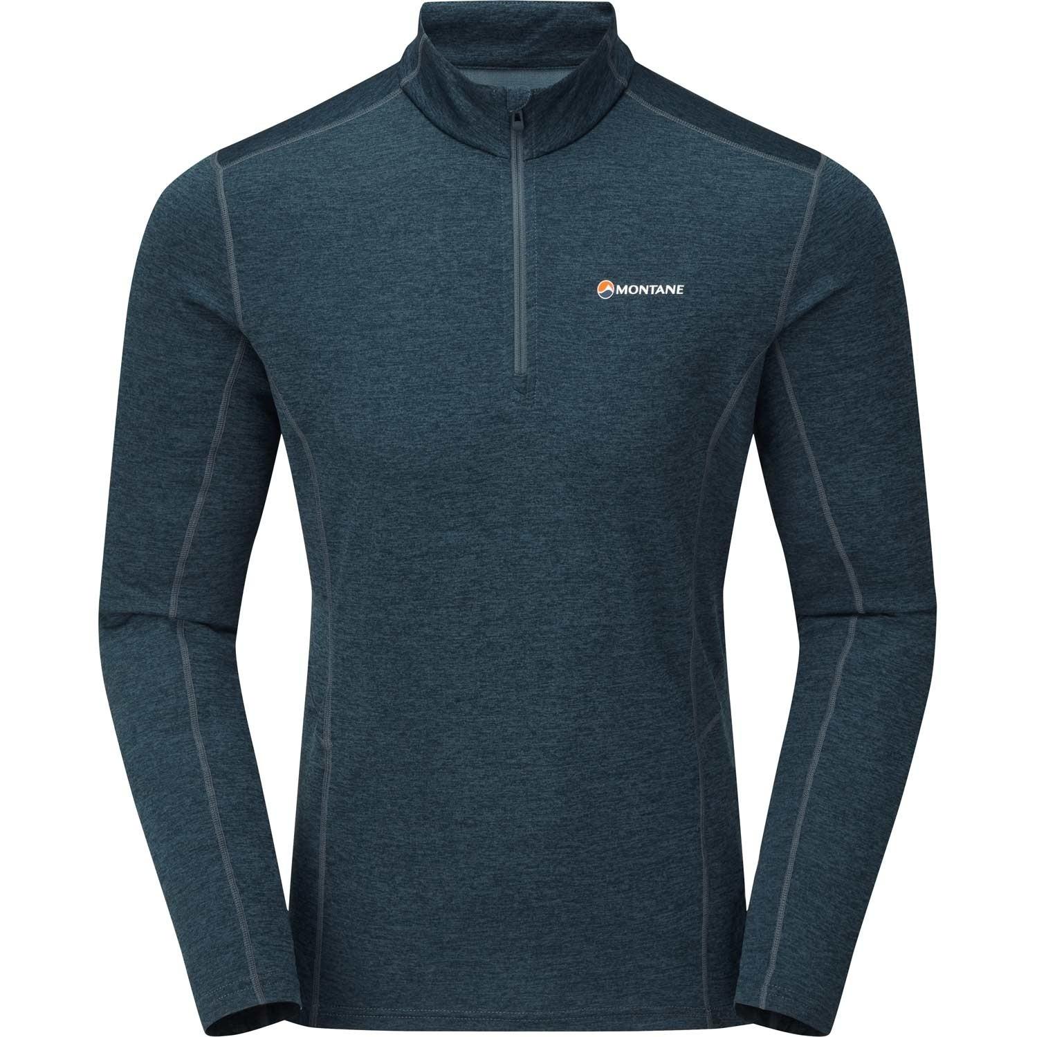 Montane Dart Zip-Neck T-shirt - Men's - Orion Blue
