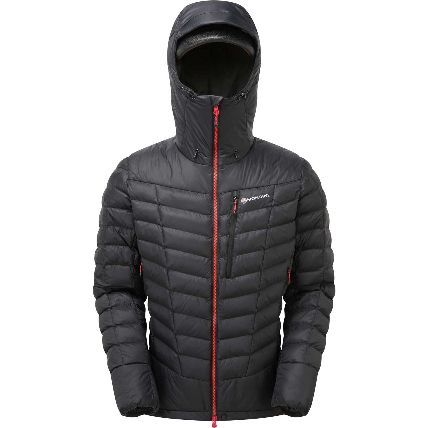 Montane Ground Control Insulated Jacket - Men's - Black/Alpine Red