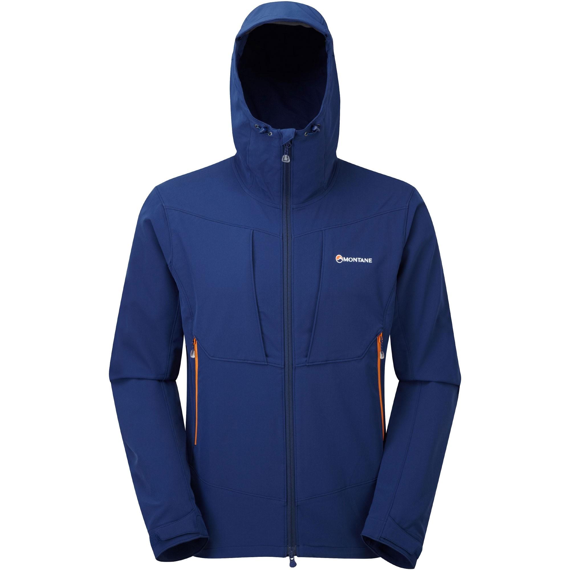 Montane Dyno Stretch Jacket - Antarctic Blue - hood up