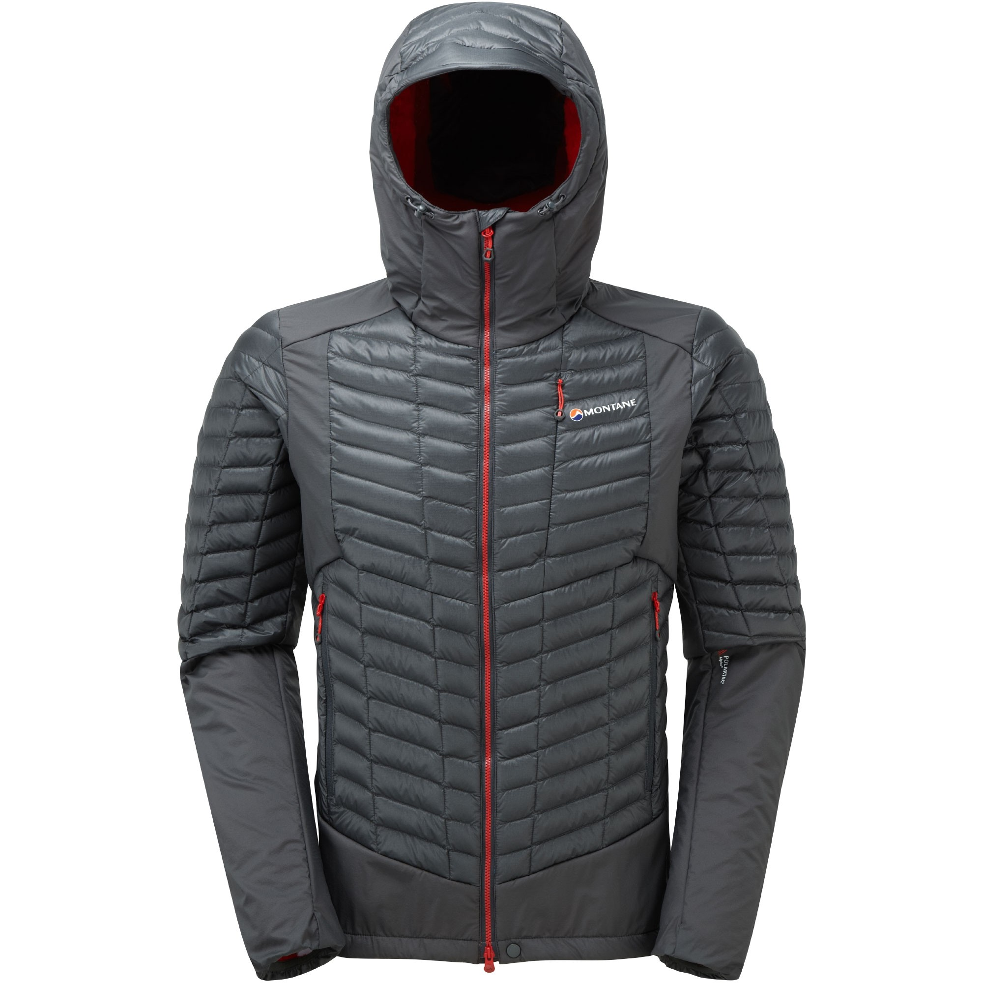 Montane Mens Quattro Fusion Jkt - Shadow - Front Hood Up
