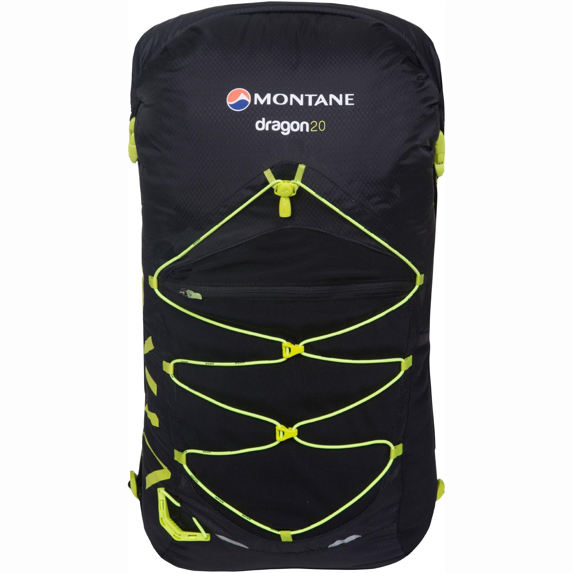 Montane Via Dragon 20 Trail Running Speedpack - Black/Laser Green
