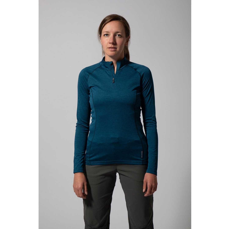 Montane Dart Zip-Neck Baselayer - Women's - Narwhal Blue