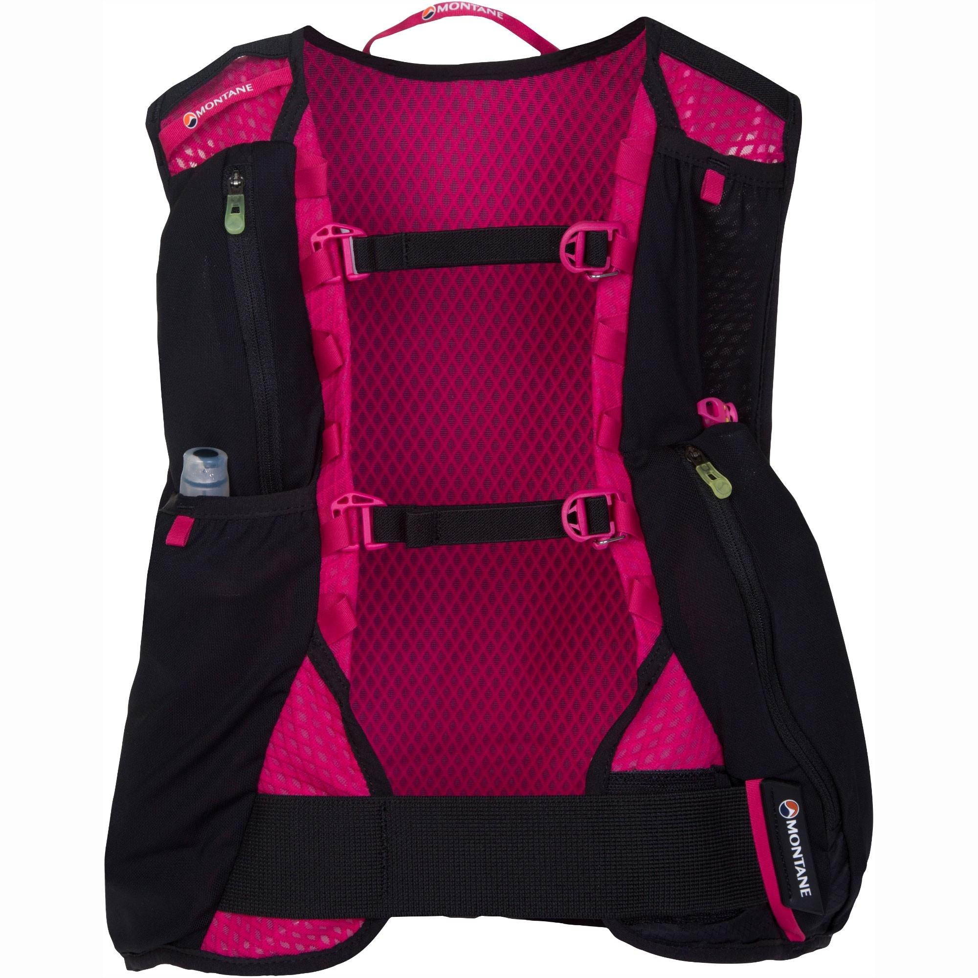 Montane Via Claw4 Women's Trail Running Pack - Black/Dolomite Pink/Sulphur Yellow